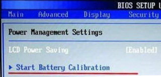 Bios Battery Calibration